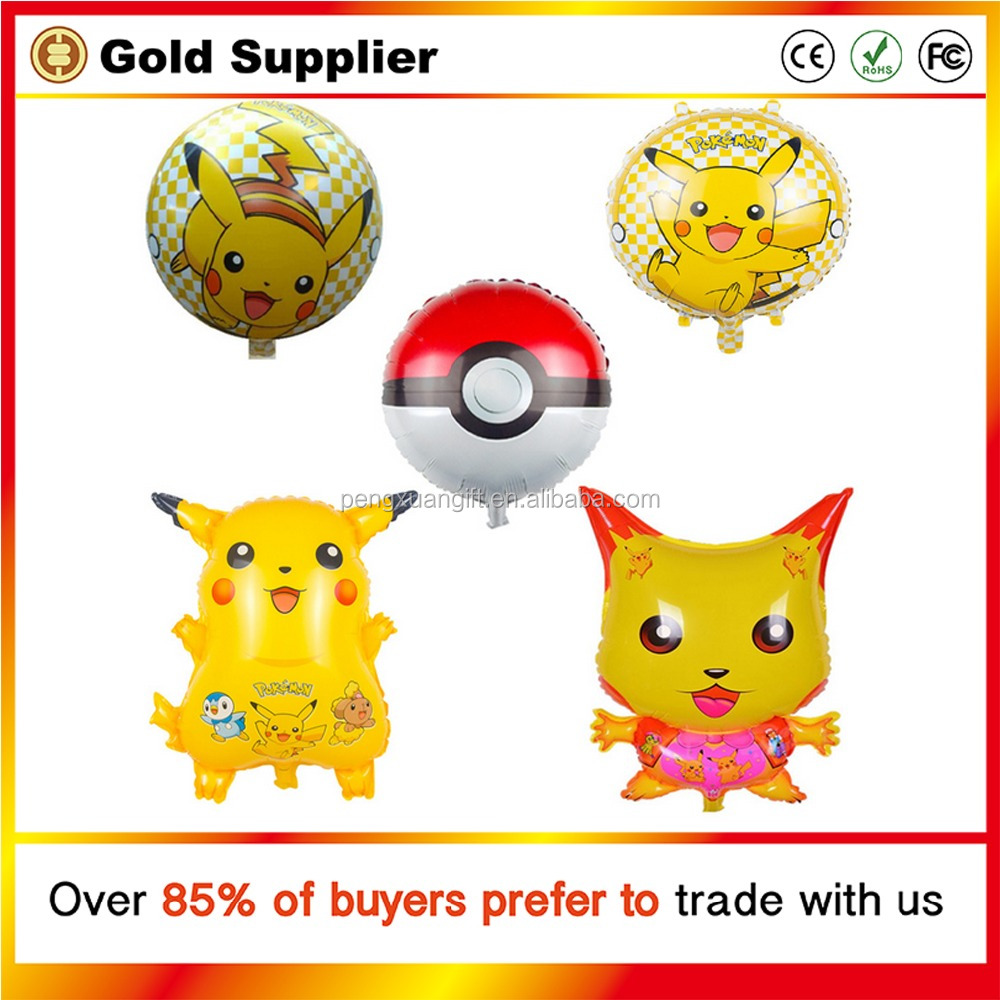 Pokemon Pikachu Balloon Birthday Party Wedding Decoration Globos Cute PokeBalls Foil Helium Balloons Inflatable Classic Toys