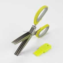 Best Quality Kitchen 5 Multi-blades Herb Scissor With Easy Cleaning Brush