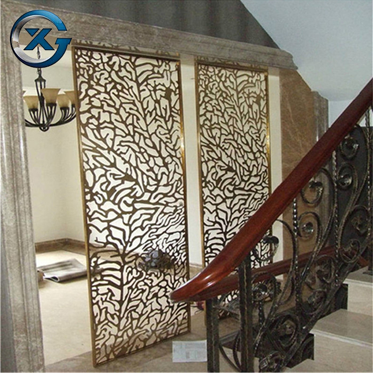Custom design decorative laser cut metal screen panel stainless steel room divider
