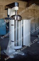 Tubular liquid solid separation centrifuge