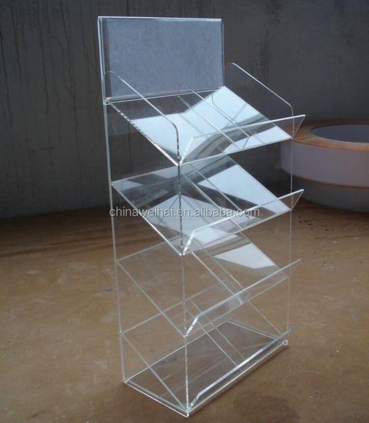 Clear Single Acrylic Baby Diaper Rack Display