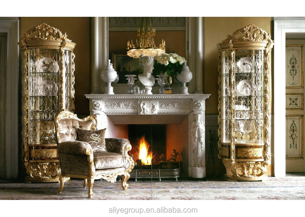 GDM022 Luxury Living Room Show Pieces For Home Decoration Classical Baroque  Furniture Part 33