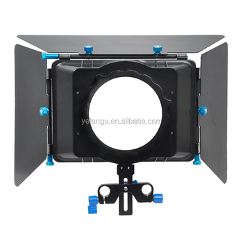 YELANGU Popular Cheap Metal Matte Box M4 Without Filter Tray Support DSLR Video Camera Camcorders