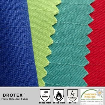 CVC 85% polyester 14% antistatic1% flame retardant anti-static 4/1 satin, 350gsm