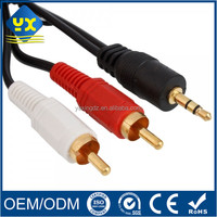 20cm Speaker 3.5mm Stereo TRRS Male Jack to 2 RCA Male Adapter Audio Vedio Y Splitter Extension Cable
