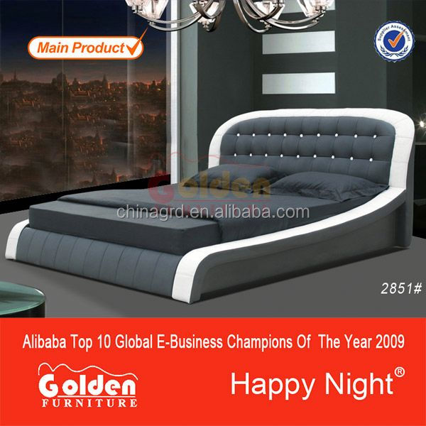 Luxurious Black Color crocodile leather bed