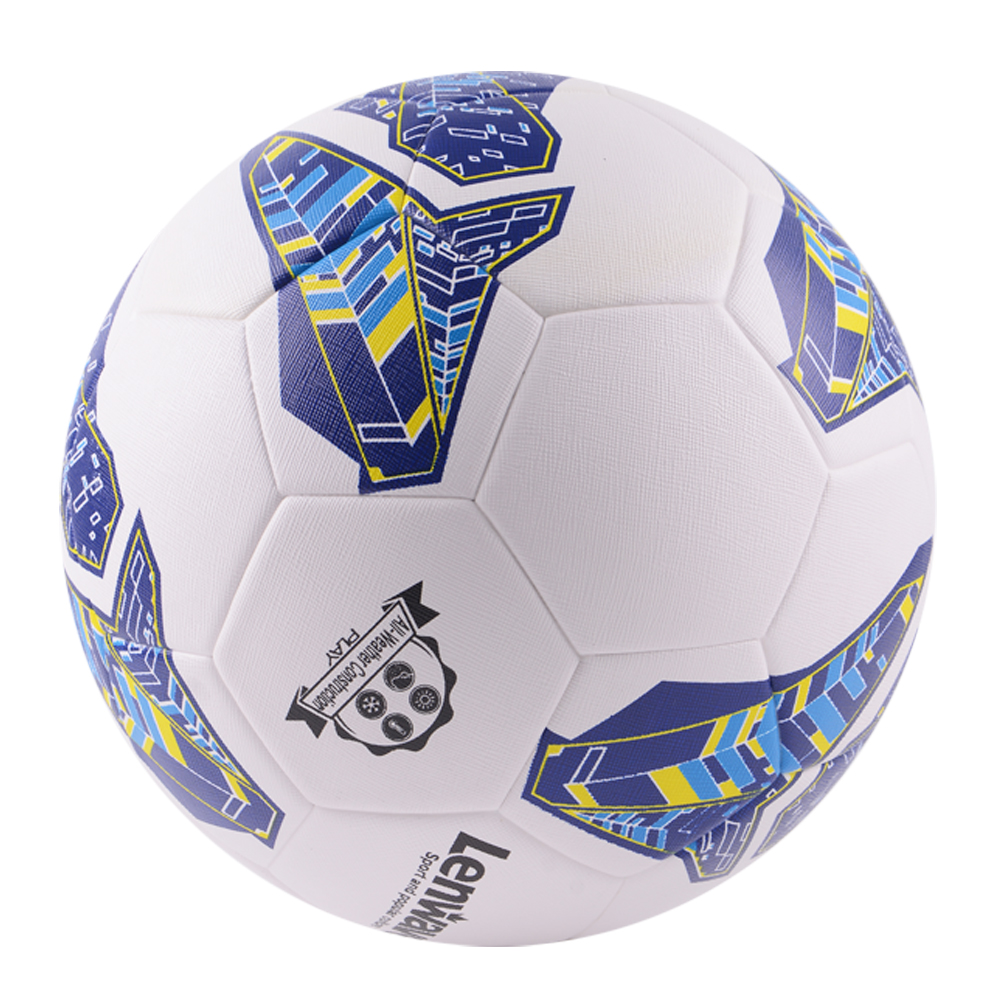 Lenwave branded soccer balls deflated packing pu leather promotional thermal bonded soccer ball