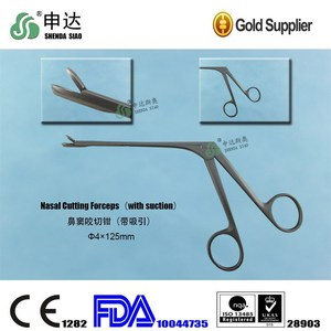 Reusable ENT Sinus Forceps Sinoscope Instrument Nasal Cutting Forceps With Suction
