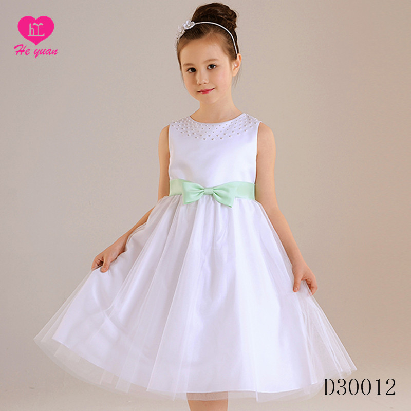 D30012Factory Wholesale lace Girls Party Dress New Tulle fancy Flower Girl Dresses With Long