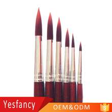 high quality wine red nylon hair artist paint brushes wholesale