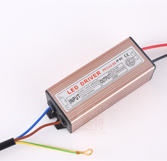 Waterproof IP66 constant current 1200-1450mA 50w LED driver for flood light
