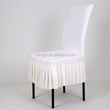 Skirt Pendulum Spandex Chair Cover / Pleated Lycra Chair Cover / Chair  Cover For Wooden Chair