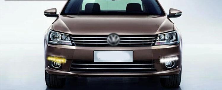 Бесплатная доставка конфигурации авто дневного света для Volkswagen Bora передняя bumille гриль + DRL из светодиодов VW Bora