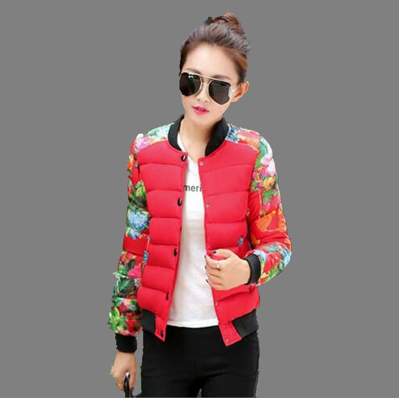 2016Autumn font b Winter b font New Fashion Women Short Cotton Down Jacket Leisure Big yards