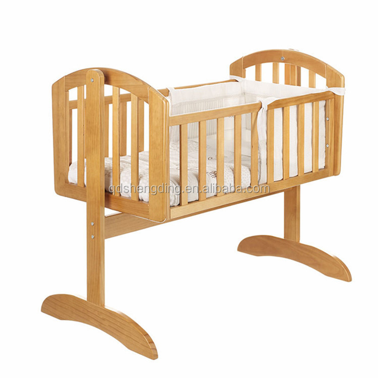 Nice Simple Design Wooden Baby Swing Bed Baby Cot Baby ...