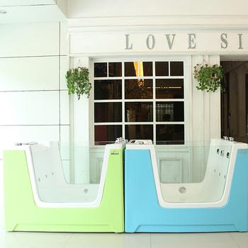 Portable Large Acrylic Pet Dog Bathtub Grooming Tub Dog Bath Tub