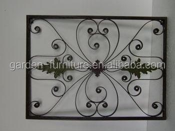 Handicrafts Scroll Design Metal Wall Decor Fleur De Lis Ornamental ...
