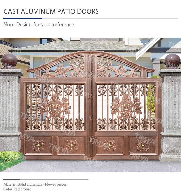 2015 Decorative Garden Furniture Cast Aluminium Gates Garden Furniture