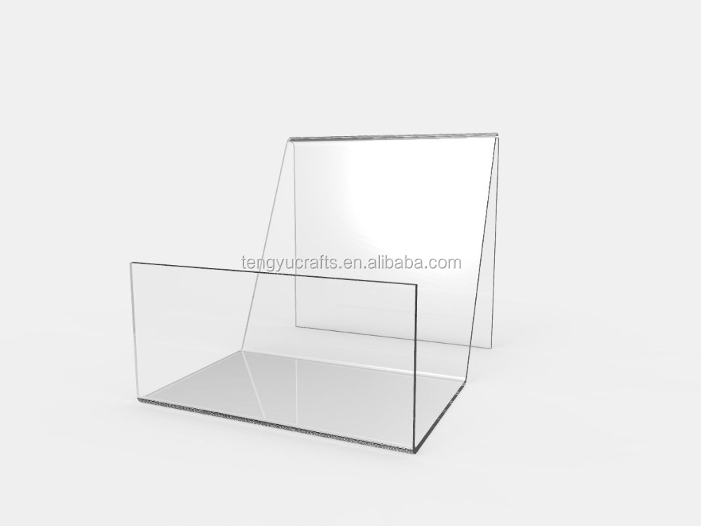 Wholesale Clear Acrylic Easel Catalog Display/Wallet/Book/CD/DVD/Literature Stand For Multipurpose