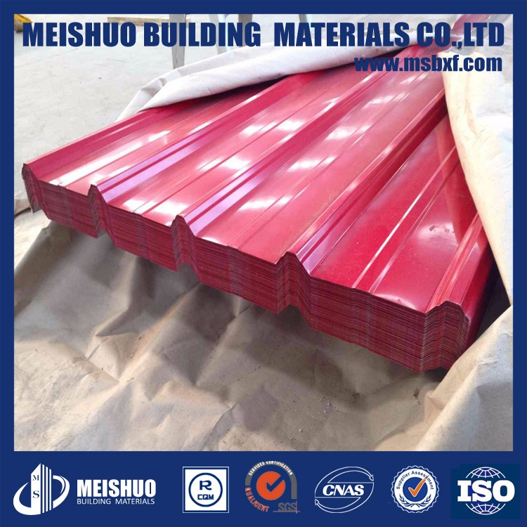 Color coat corrugated sheet iron for roofing sheets