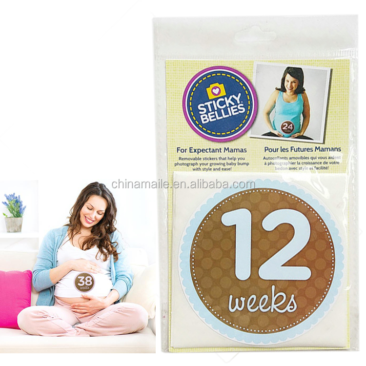 photo decorate custom printing safe paper maternity sticker