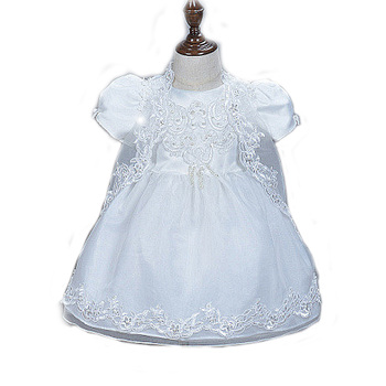 Baby Christening Gowns Infant Baby Girl Dress with lace embroidery little girl Baptism dress