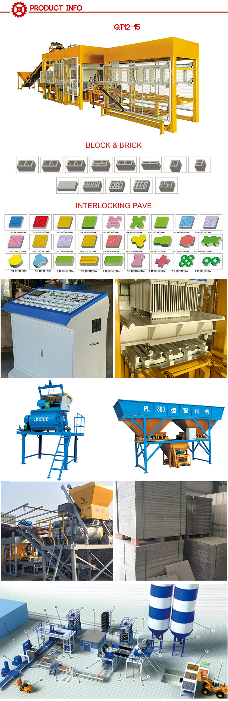Concrete Brick Production Line Processing Aac Block Making Machine Concrete Blocks Making Machine