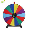 "24"" 14 Slot Tabletop Color Dry Erase Prize Wheel, Stand Fortune Spinning Game Tradeshow, wheel of fortune"