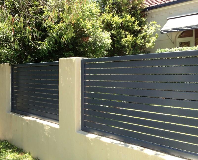 Powder Coating Black Grey Aluminium Fence Buy Horizontal
