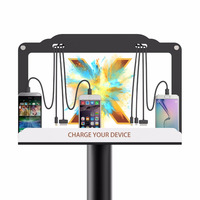 Commercial mobile phone Charging station with floor stand digital signage