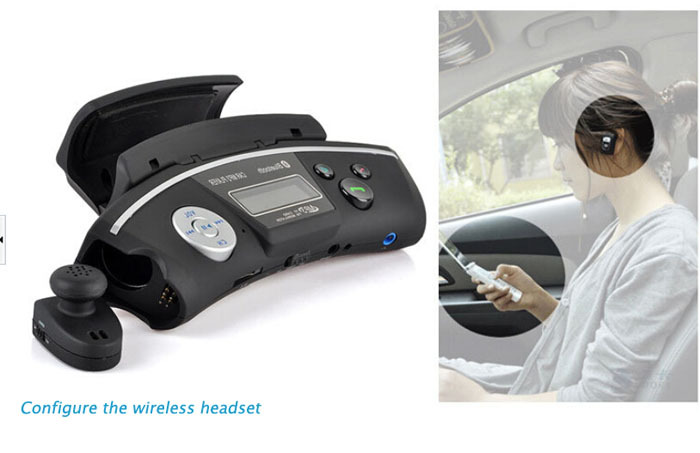 Беспроводная автомобиль комплект с Bluetooth громкой связи mp3-плеер fm-передатчик автомобильное зарядное устройство для руль много - функция BT02