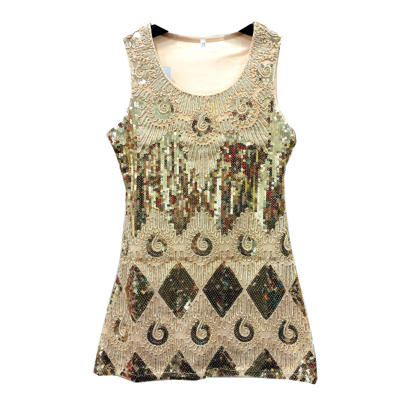 Newest kids sleeveless o-neck dress 5colors can choose with sequined and Embroidered girls dress for 2016 girl dress 3317