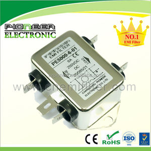 6A Use for DC voltage PE5000-6-01 24/48/80/250VDC DC EMI filter