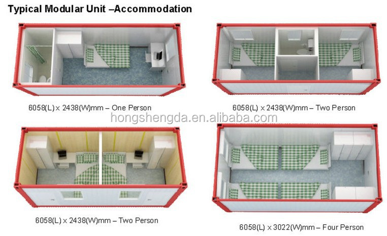 Prefab 20ft Luxury Modular Flat Pack Container Office