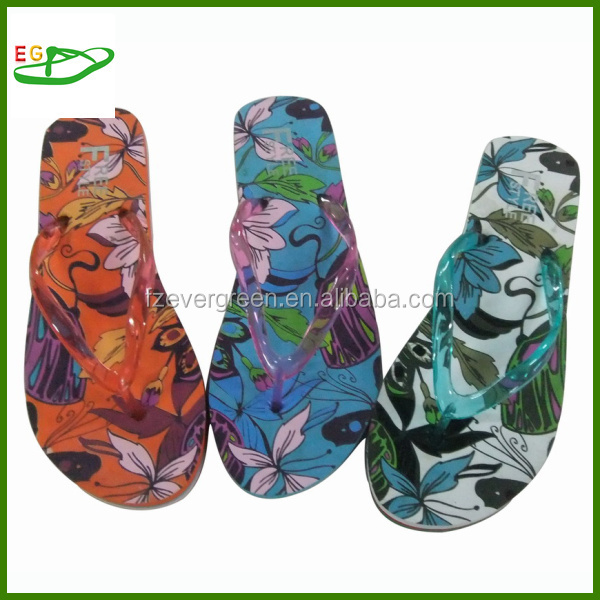 Priting pvc slippers with smart fit shoes