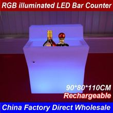 2017 China Factory Top Seller CE Rohs Approval Led Commercial Bar Counter For Bars Sale Size 90CM*80CM*110CM