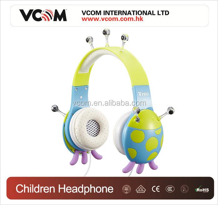 Neon yellow earphones for kids - earhook headphones for kids
