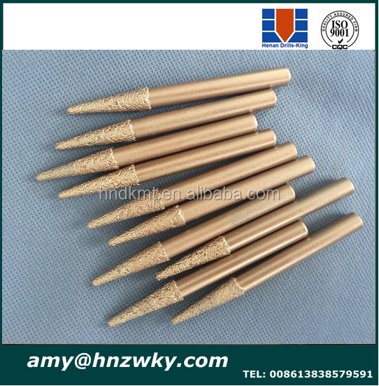 Angle 8*3*12mm Stone Carving Bits For 3D Deep Relief/CNC Tools Bit/ Diamond Engraving Bits On Glass/Brick/Monument