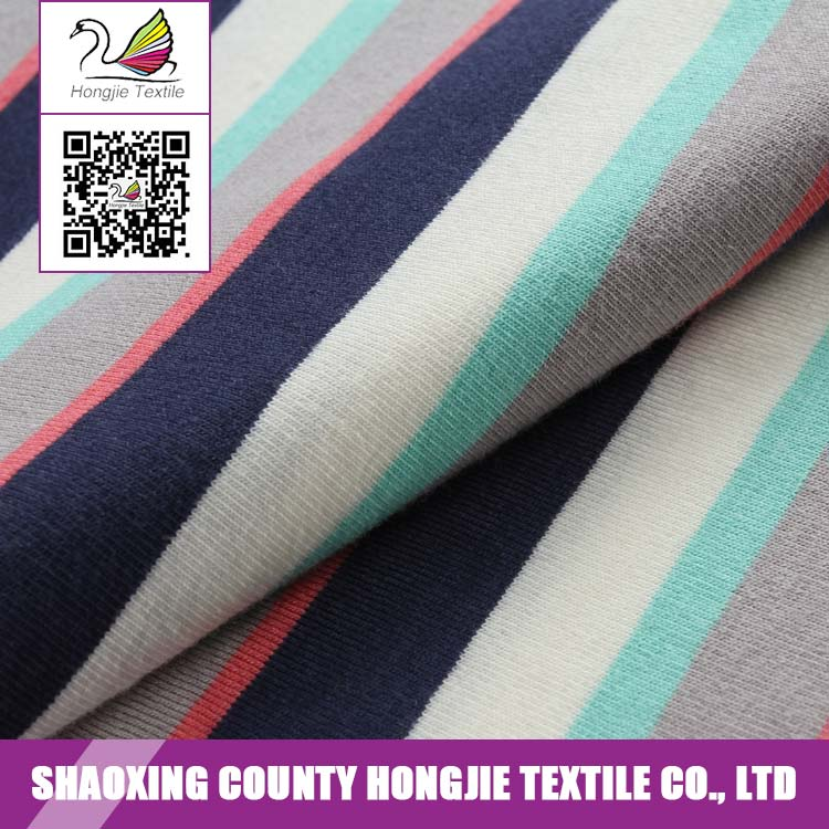 China Manufacturer Wholesale yarn dyed jersey knit fabric cotton spandex fabric
