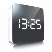 Square mirror led clock
