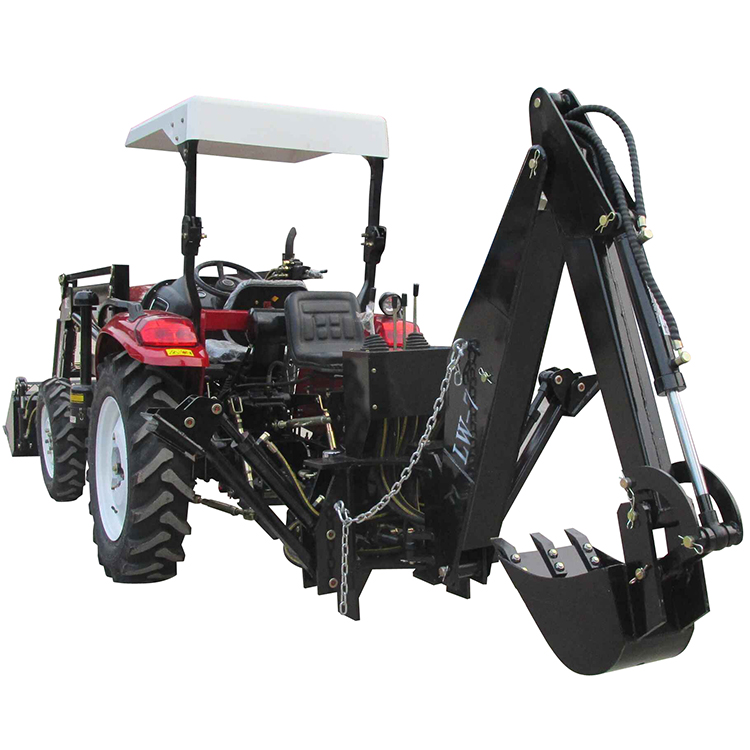 Factory direct supply 4x4 compact tractor small 30hp 35hp 40hp 45hp 50hp tractor mounted front end loader and backhoe for sale