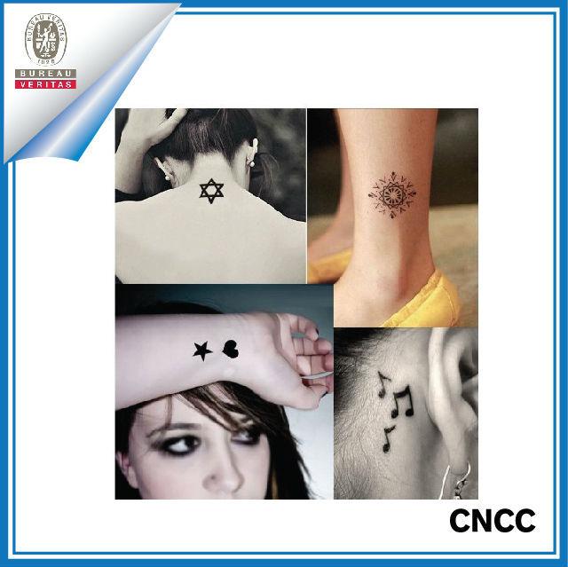 Diy Tatuagem Temporaria Temporary Tattoo Stickers Arabic Black ...