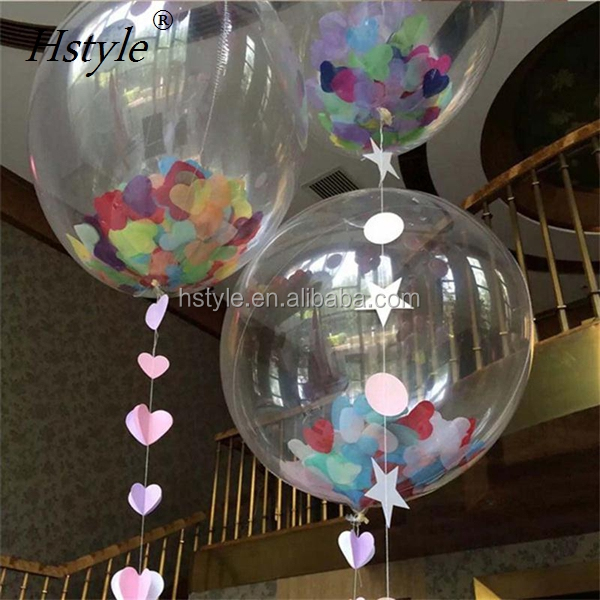 No Wrinkles Clear Bubble Foil Balloon 10/20/24inch Transparent Helium Globos Birthday Wedding Party Decor Supplies Toy SBR025