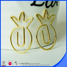 Yes shaped paper clip pineapple paper clip