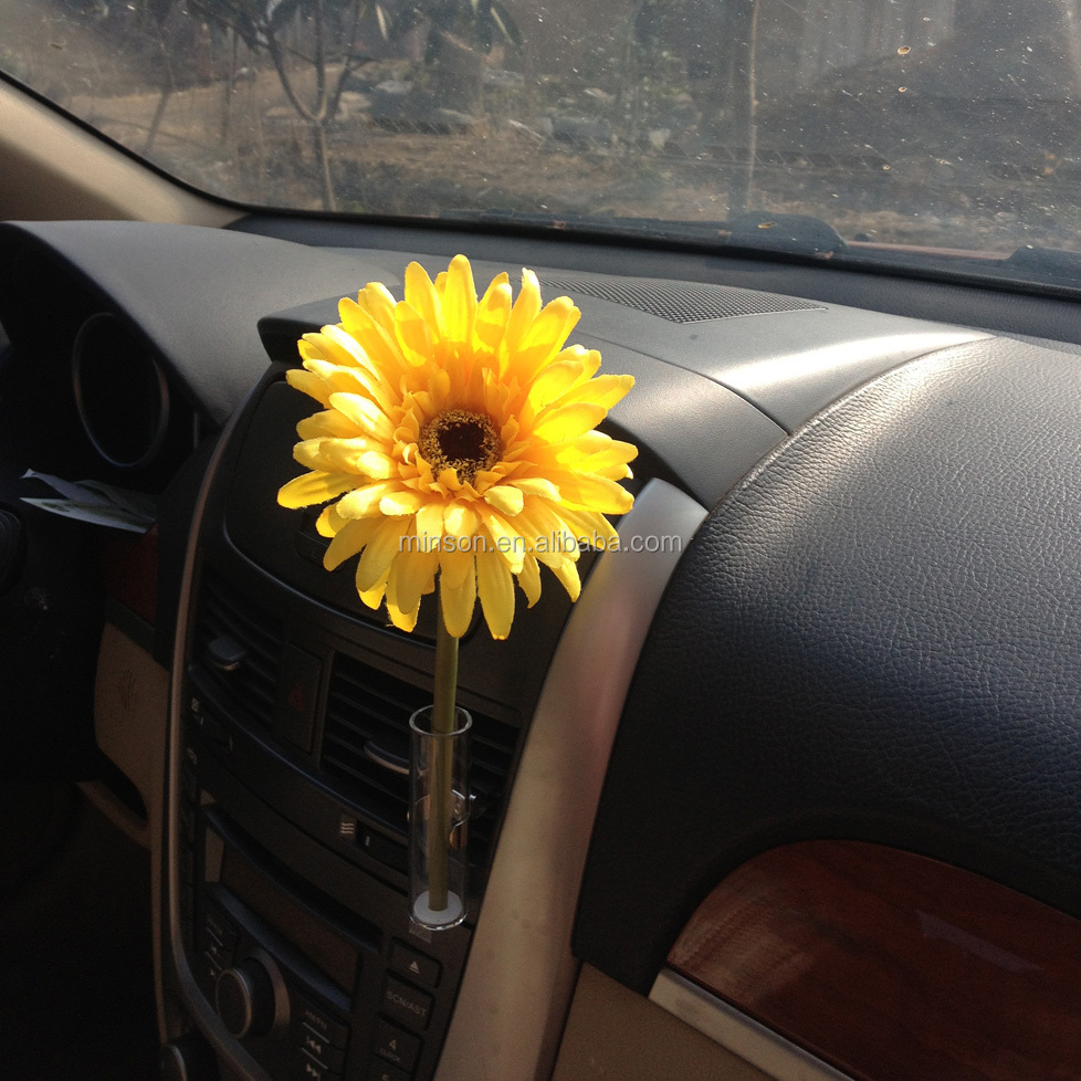 Car Flower Vase For Clip On Auto Vent Universal Rotation