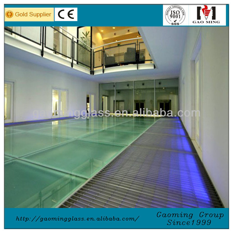 Price of glass floor for square