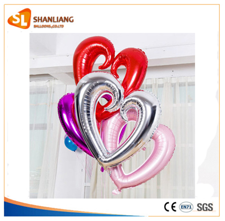 New Arrival 24inch Large Heart Shape Foil Balloons Wedding Birthday Party Decoration Balloon Heart Helium Balloon Love you Heart