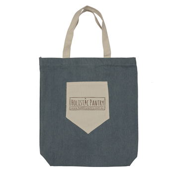 Top Level Best Material Custom Logo Printed Cotton Tote Bag with Outside Pocket