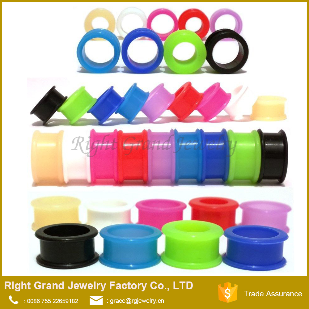 Silicone Stretching Gauges Stretcher Expander Body Piercing Jewelry Ear Plug Earlets Expander