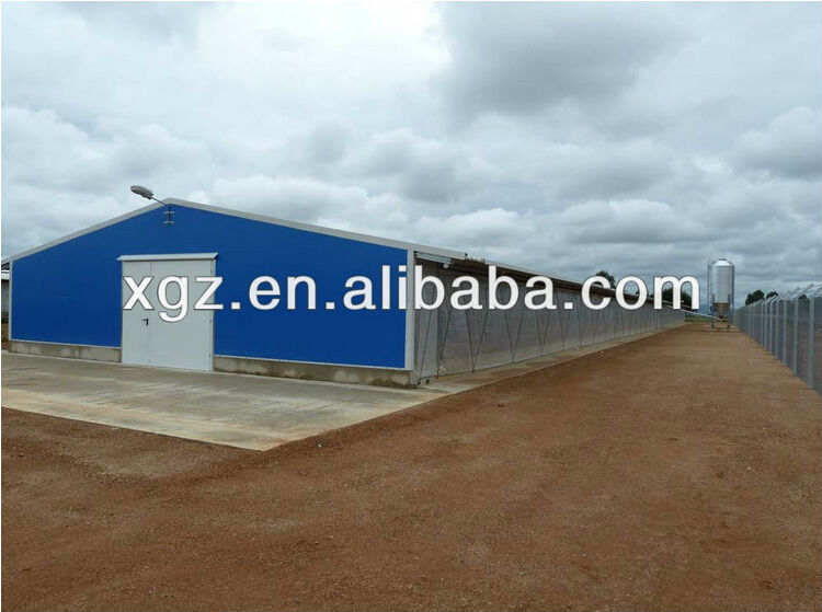 pre-engineer light steel Prefabricated building for chicken house